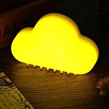 night light sound touch control sound sensor led cloud night light rechargeable usb