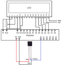 how to integrate a temperature sensor circuit to an lcd