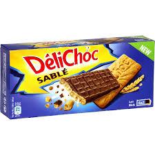 cuisine des sables voiron biscuits sablés chocolat lait délichoc délichoc le paquet de 12