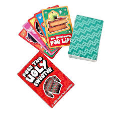 pass the ugly sweater card game for ugly christmas sweater party