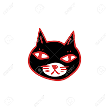 black cat with red eyes witches and witchcraft symbol halloween