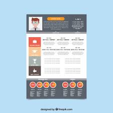 Free Infographic Resume Templates Modern Resume Template With Infographic Elements Vector Free