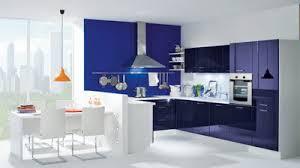 cuisine blanche et bleue aménagement idee deco cuisine blanche et bleu