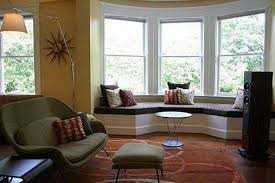 Bay Window Decorating Ideas Blending Functionality With Modern - Bay window designs for homes