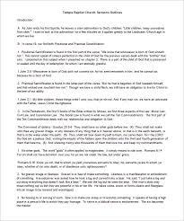 sermon outline template u2013 10 free sample example format