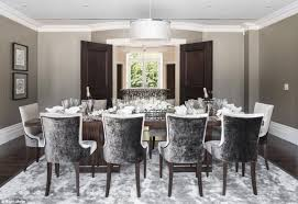 Velvet Dining Room Chairs Artistic Comfortable Home Wall With Additional Appealing The Gray