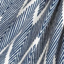 Black And White Drapery Fabric Tribal Navy Blue Chevron Fabric Eclectic Drapery Fabric By