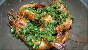 cuisiner des gambas gambas au four ail et persil la cuisine de nelly