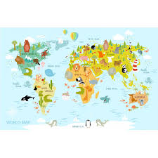 North America Wall Map by Cartoon World Map Prices Of Photo Prints Trendythings
