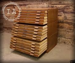 Wood Flat File Cabinet Industrial 15 Drawer Hamilton Flat File Blueprint Cabinet