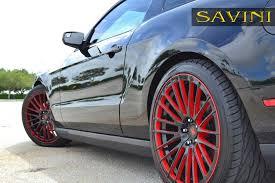 Black Red Mustang Mustang Savini Wheels