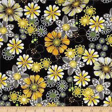 sundance daisy black from fabricdotcom designed for exclusively