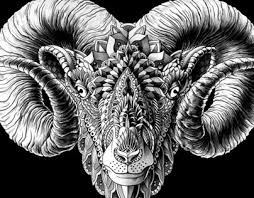 ram head tattoo design on behance