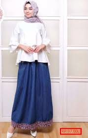Baju Atasan Rok Levis baju dan rok levis panjang style remaja style remaja
