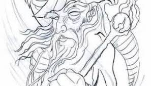 black ink wizard with stick tattoo design image u2013 truetattoos