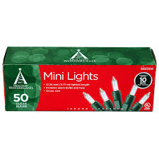 amazon com 50 count clear christmas light set home improvement