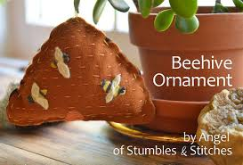 stumbles stitches tutorial felt beehive ornament