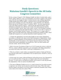 gandhi u0027s u201cquit india u201d speech