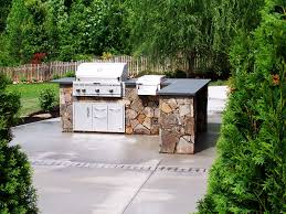 Outdoor Kitchen Stainless Steel Cabinets Diy Outdoor Kitchen Stainless Steel Appliances Plus Cabinets Red