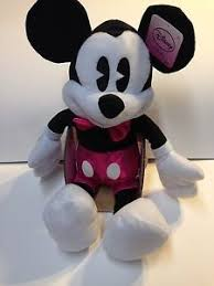 mickey mouse s day mickey mouse disney s day plush pink shorts and pink bow