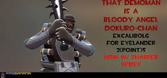 bludgeoning angel dokuro chan excalibolg for eyelander v2 5 team fortress 2 u003e skins u003e demoman