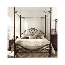 Antique Metal Bed Frame Wrought Iron Bed Frame Spindle Headboard Footboard Retro Antique
