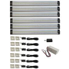 hard wired under cabinet lights macleds 12 in 4000k neutral white dimmable led 6 strip light hard