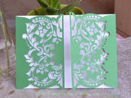 Muslim Wedding Invitation Cards Laser Cut Wedding Invitation Cards Green U0026white Green Muslim