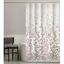 Fabric Shower Curtain With Window Maytex Sylvia Leaf Fabric Shower Curtain