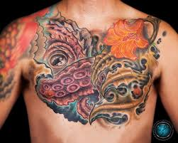 shoulder chest tattoos for men 29 octopus tattoos on chest