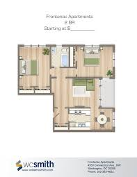 2 bedroom floorplans for rent the frontenac apartments in the