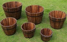buy round whiskey barrel wooden planters in cheap price on alibaba com