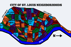 Map St Louis For Our Anniversary My Wife Wanted A Map Of The St Louis City