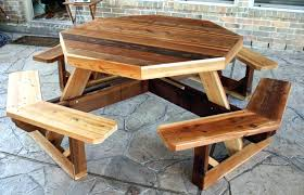 folding bench and picnic table combo plans pdf explore octagon