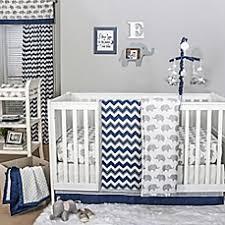the peanut shell chevron crib bedding collection in navy grey