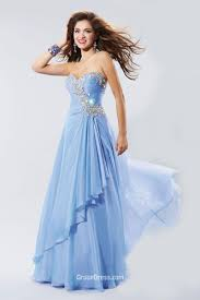 pretty dress pretty a line strapless sweetheart beaded blue chiffon prom
