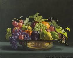 Fruit Bowls by Stencils Fruit Donna Surprenant Fruit Bowl With Grape Leaves