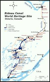 Map Of Ottawa Canada by Rideau Canal Map Of The Rideau Canal