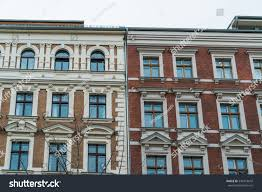 beautiful luxury row houses berlin stock photo 534318610