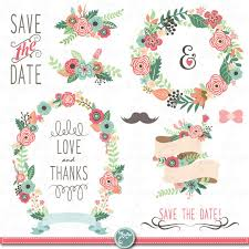 wedding flowers clipart vintage flower clipart wedding floral pencil and in color