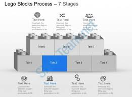 my seven staged lego block process flow chart powerpoint template