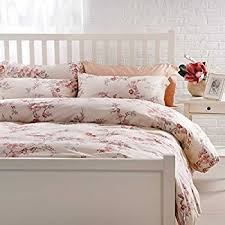 Red And Cream Duvet Cover Amazon Com Autumn Leaf Watercolor Print Brushed Cotton Duvet