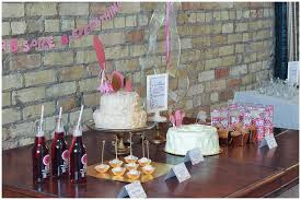 a pink and gold cue the confetti themed baby shower
