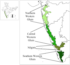 Map Location Map Showing Location Of Western Ghats In India And Biogeographic