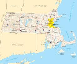 Colleges In Massachusetts Map by Where Is Massachusetts Massachusetts Maps U2022 Mapsof Net