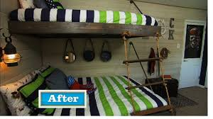 Floating Bunk Beds Tutorial Knock It Off DIY Project East - Suspended bunk beds