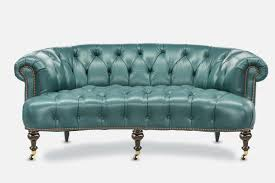 distressed leather chesterfield sofa the truman elegant curved chesterfield of iron u0026 oak
