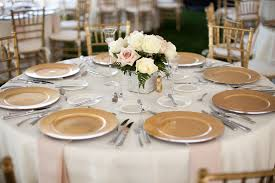 gold charger wedding place settings elizabeth designs the