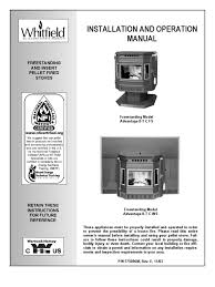 advantage ii t classic pellet stove manual chimney fireplace