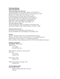 Opera Resume Template Don Resume 2016 Projections